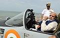 The Prime Minister, Shri Narendra Modi at an aircraft onboard INS Vikramaditya, in Goa on June 14, 2014.jpg