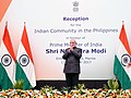 The Prime Minister, Shri Narendra Modi at the Reception for the 'Indian Community in Philippines' hosted by Indian Ambassador in honour of Prime Minister, in Manila, Philippines on November 13, 2017.jpg