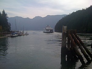 Snug Cove - The Queen of Capilano leaving Snug Cove