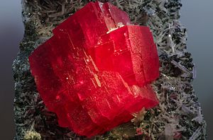 Rhodochrosite - Image: The Searchlight Rhodochrosite Crystal