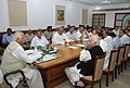 The Speaker, Lok Sabha, Shri Somnath Chatterjee chairing the all party leaders meeting at Parliament House, in New Delhi on October 17, 2008 (1).jpg