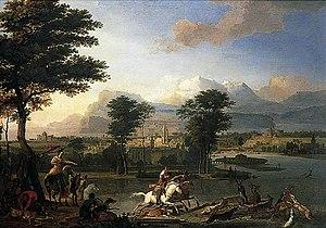 Abraham Hondius - Abraham Hondius, The Stag Hunt , Norwich Castle, 1675