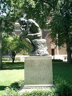 "A copy of Auguste Rodin's ""The Thinker&qu..."