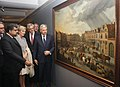 The Union Minister for Shipping, Shri G.K. Vasan with the Her Royal Highness, Princess Astrid of Belgium and other dignitaries going round the Art Exhibition Masterpieces of Antwerp, in Mumbai on November 27, 2013.jpg