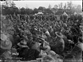 The audience attending an evening performance of the 'Kiwis' during World War I, Louvencourt (21662322266).jpg