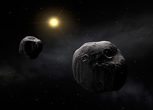 Binary asteroid - Image: The double asteroid 90 Antiope Eso 0718a (no tagline)