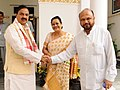 The former Chief Minister of Assam, Shri Prafulla Kumar Mahanta calling on the Minister of State for Culture and Tourism (Independent Charge), Dr. Mahesh Sharma, in New Delhi on July 20, 2017.jpg