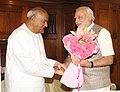 The former Prime Minister, Shri H.D. Deve Gowda calling on the Prime Minister, Shri Narendra Modi, in New Delhi on June 06, 2014.jpg