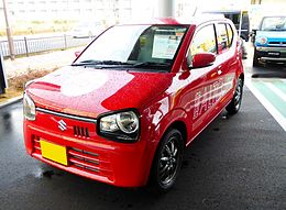 The frontview of Suzuki ALTO X 2-tone backdoor (HA36S) with optional parts.JPG