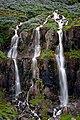 The waterfall in Búðará in Seyðisfjörður, Iceland (45910237212).jpg