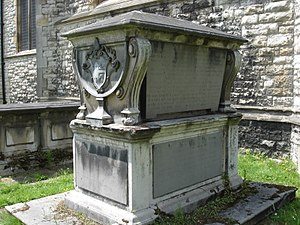 Thomas Sherlock - Sherlock's tomb monument at All Saints' Church, Fulham
