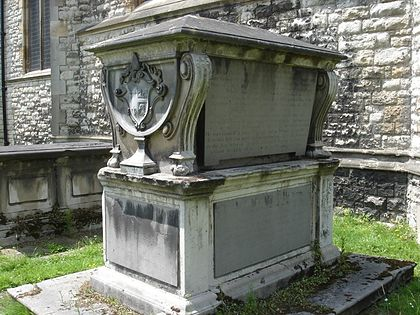 Sherlock's tomb monument at All Saints' Church, Fulham ThomasSherlockMonument01.jpg