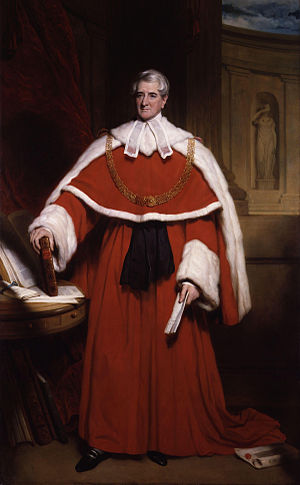Thomas Denman, 1st Baron Denman - Lord Denman as Lord Chief Justice, by Sir Martin Archer Shee.