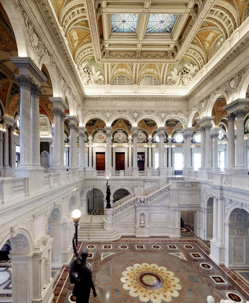 photograph of the Great Hall in the Thomas Jefferson building by Carol M. Highsmith