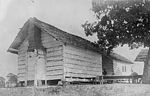 One Of Several Dogtrot Houses Formerly Used As Slave Quarters At The Plantation Thornhill Near Forkland Alabama This Photograph Was Taken In 1934