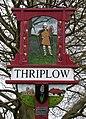 Thriplow Village Sign, detail - geograph.org.uk - 750269.jpg