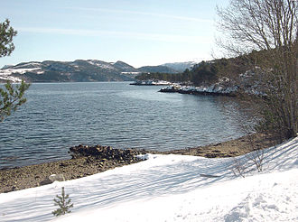 Tingvoll - View of the Tingvollfjorden