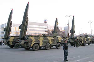 OTR-21 Tochka - Missiles systems Tochka-U at a Russian Federation rehearsal for the parade in Yekaterinburg