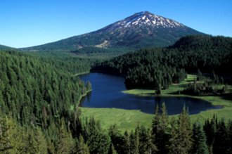 Deschutes National Forest - Todd Lake and Mount Bachelor