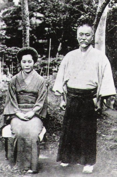 Admiral Togo with his wife Tetsu, in 1913 Togo&Tetsu.jpg