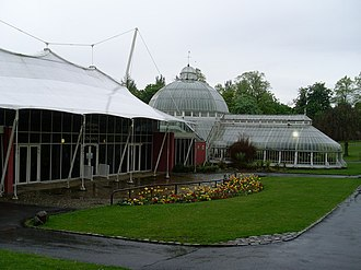 Tollcross, Glasgow - The Winter Gardens complex in 2009 prior to storm damage.