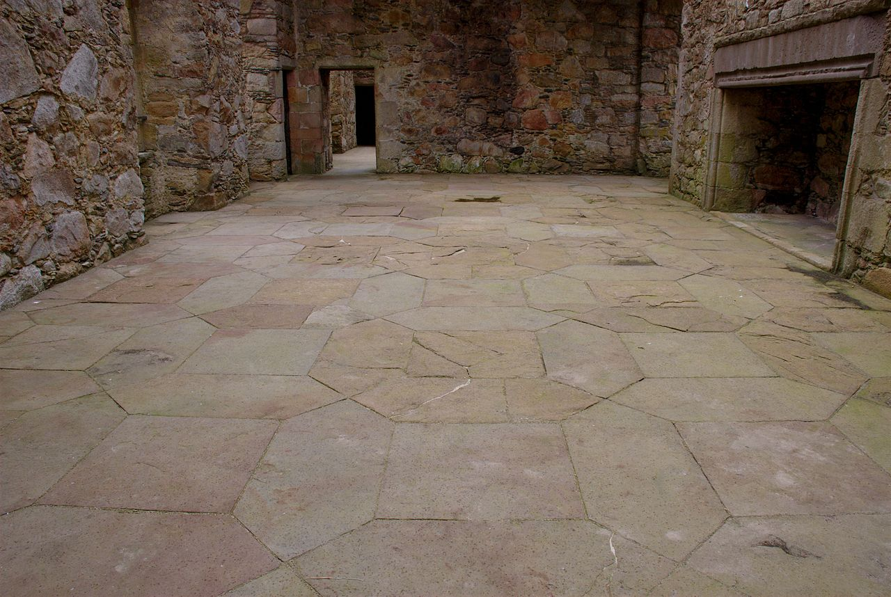 File Tolquhon Castle Detail Of Floor In Main Hall Jpg