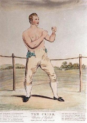 Tom Spring - Spring's mentor Tom Cribb circa 1810
