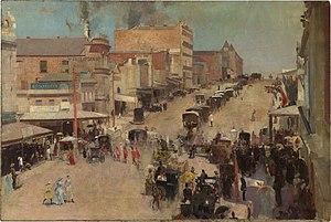Bourke Street (painting) - Image: Tom Roberts Allegro con brio, Bourke Street west c 1885 86