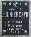 Tomb of Eugenia Żołnierczyk and Wojciech Haduch at Posada Cemetery in Sanok 2.jpg