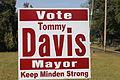 Tommy Davis mayoral sign, Minden, LA IMG 4044.JPG