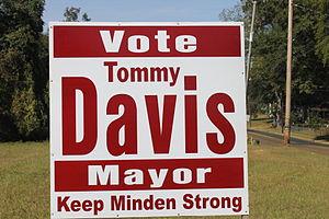 Tommy Davis (Louisiana politician) - Davis campaign sign (2014)