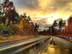 New Hampshire Route 9 - NH 9 westbound near West Chesterfield