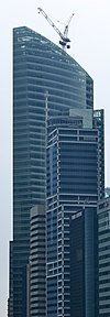 Topping out of Ocean Financial Centre, Singapore - 20101124.jpg