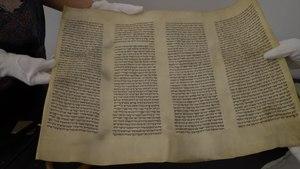 File:Torah in Kazerne Dossin.ogv
