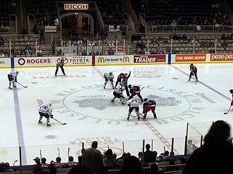 Toronto Marlies - Toronto Marlies faceoff at home versus the Syracuse Crunch.