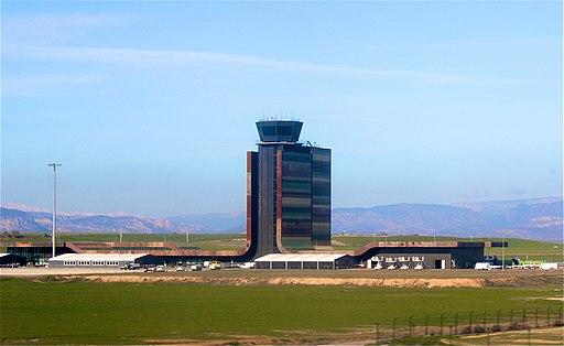 Torre de control i terminal de l'Aeroport d'Alguaire