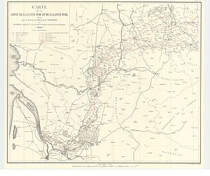 Alloue - Map of the Limits of Occitan and langue d'oil in France