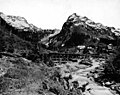 Town of Monte Cristo, Sauk River and Hartford Eastern Railroad bridge trestle, Washington, ca 1920 (WASTATE 650).jpeg