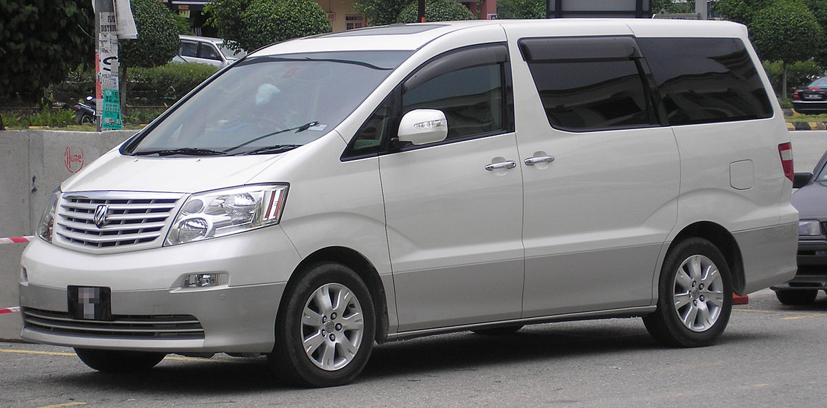Toyota Alphard (first generation) (front, white), Serdang.jpg