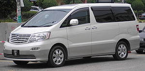Toyota Alphard - Image: Toyota Alphard (first generation) (front, white), Serdang