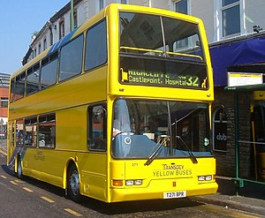 Transdev (historic) - A Transdev Yellow Buses East Lancs Lolyne bodied Dennis Trident 2 in Bournemouth in June 2006