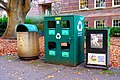 Trash and Recycling Bins on the University of Oregon Campus (38587995281).jpg