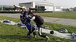 Trening skoczków spadochronowych na ziemi do RW-2 2016.10.01.jpg