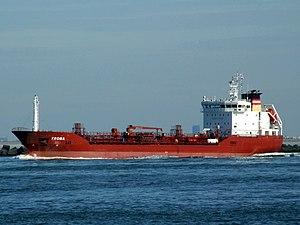 Troma p1 leaving Port of Rotterdam, Holland 21-Feb-2005.jpg