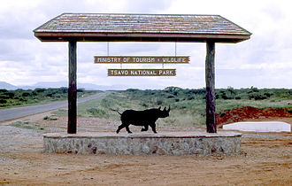 Tsavo East National Park - The Bachuma Gate entrance to Tsavo National Park