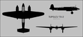 Tupolev Tu-2 three-view silhouette.png