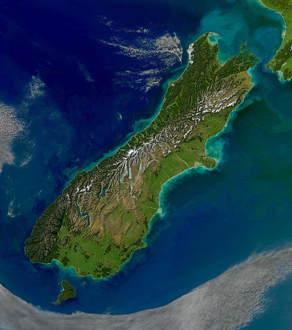 Turbid Waters Surround New Zealand - crop