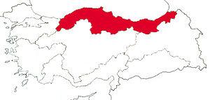 Karadeniz Bölgesi'nin Türkiye'deki Konumu