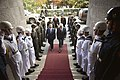Turkish Minister of National Defense Ismet Yilmaz, center left, escorts U.S. Secretary of Defense Chuck Hagel through an honor cordon welcoming Hagel to the Ministry of National Defense in Ankara, Turkey, Sept 140908-D-NI589-784.jpg