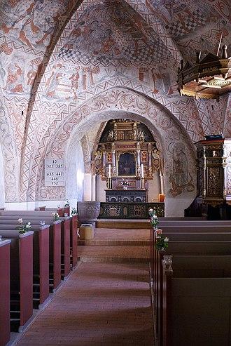Ise Fjord - Image: Tuse Kirke Kalkmalerier
